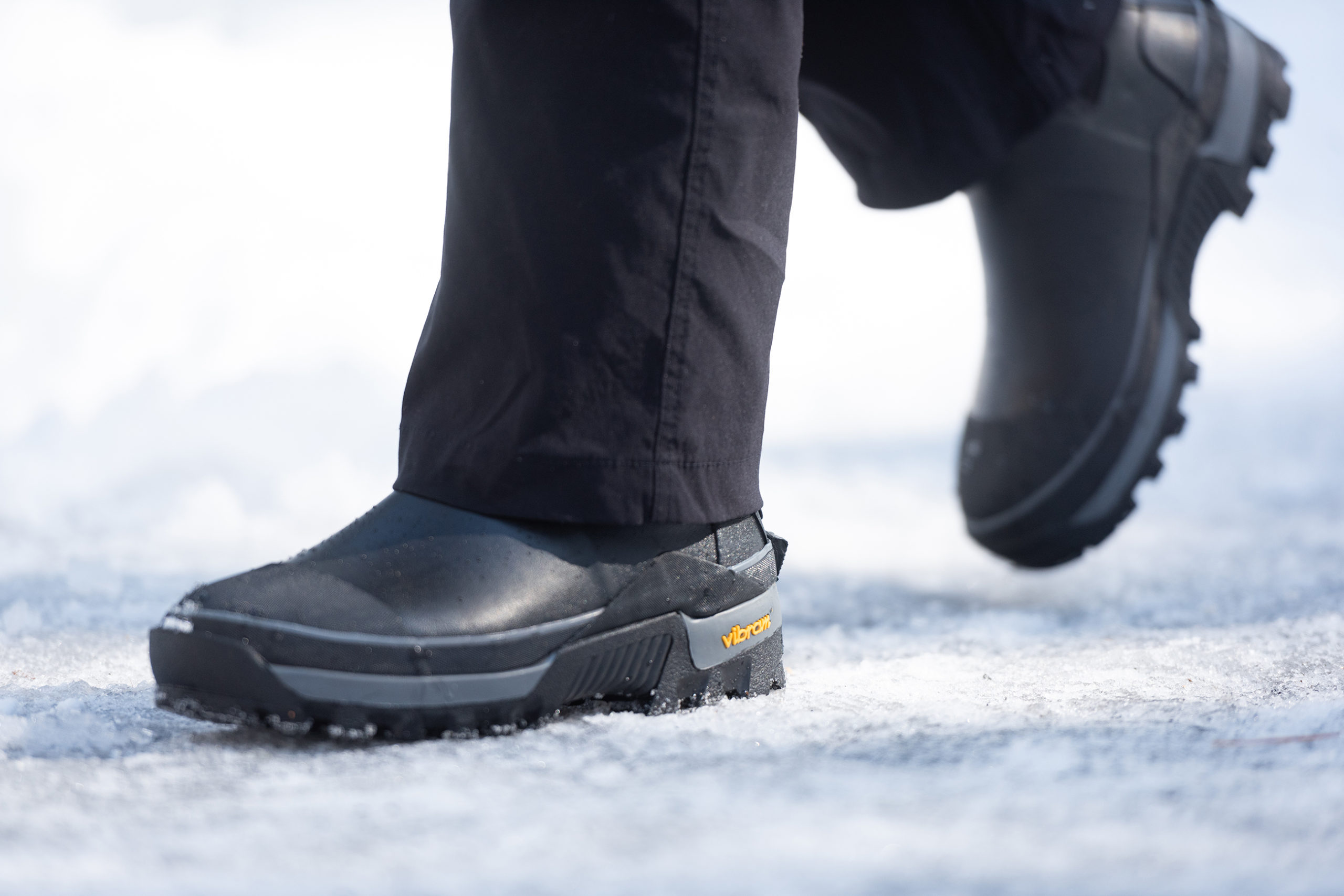 Men's cold weather boot in snow